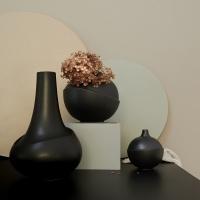 AEO Vase Bubble Black Matte