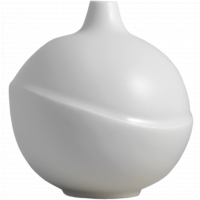 AEO Vase Bubble White Matte
