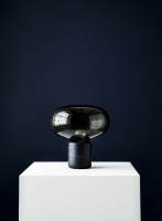 New Works Karl-Johan Lamp Black Marquina with Smoked Glass