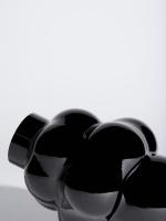 Louise Roe Balloon Vase 04 Black Glass