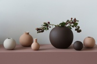 Cooee Collar Vase Cafe Au Lait 12 cm