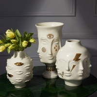 Jonathan Adler Gilded Muse Gala Round Vase
