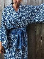 Malaika Cotton Kimono Supersize Indigo Blossom