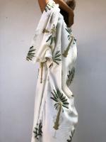 Malaika Cotton Kimono Supersize Green Palm
