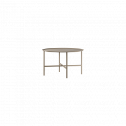 Design of Table Round Cross Beige Medium