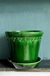 Bergs Potter Kruka Copenhagen Glazed Emerald Green 18 cm