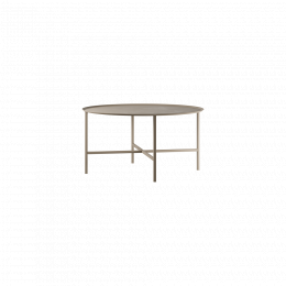 Design of Table Round Cross Beige Large