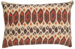 Chhatwal & Jonsson Kudde Linne Ikat Bombay Brown 40x60 cm
