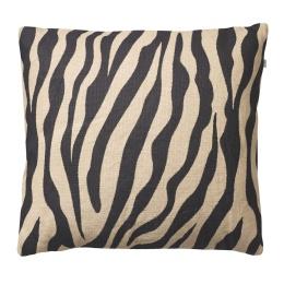Chhatwal & Jonsson Kuddfodral Zebra Linen Beige Black 50x50