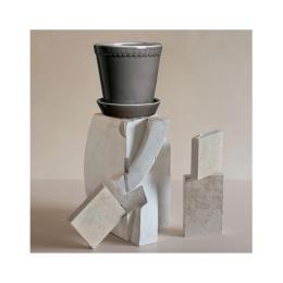 Bergs Potter Kruka Helena Glazed Pearl Grey 14 cm