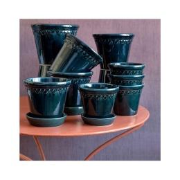 Bergs Potter Kruka Copenhagen Glazed Petroleum Blue 14 cm