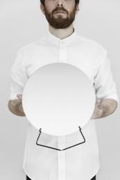 Moebe Spegel Standing Mirror Black 30 cm