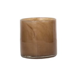 Tell Me More Lyric Candleholder Small Brown