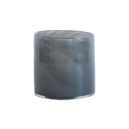 Tell Me More Lyric Candleholder Small Dark Grey