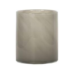 Tell Me More Lyric Candleholder Medium Grey