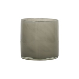 Tell Me More Lyric Candleholder Small Grey