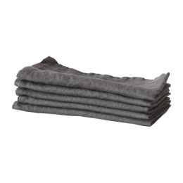 Tell Me More Kitchen Towel Linen Dark Grey