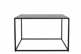 Design of Outdoor Square Table Black Medium