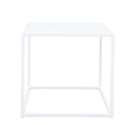 Design of Outdoor Square Table White Small