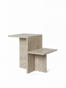 Ferm Living Sidobord Distinct Travertine