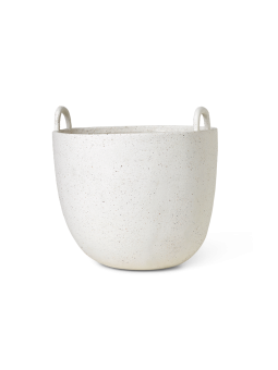 Ferm Living Kruka Speckle Pot Off White Small