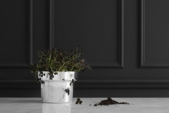 Skultuna Flower Pot Silver