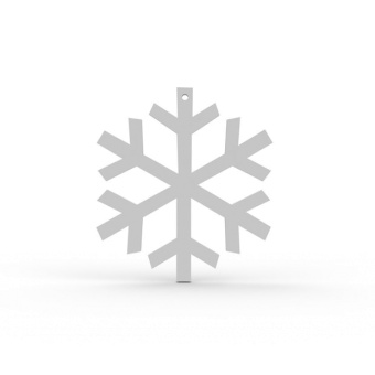 Cooee Design Snowflake White 2 Pack
