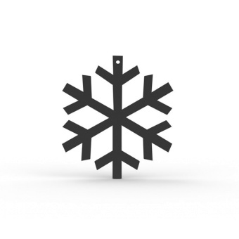 Cooee Design Snowflake Black 2 Pack