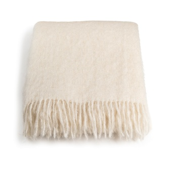 Stackelbergs Mohair Pläd Off White