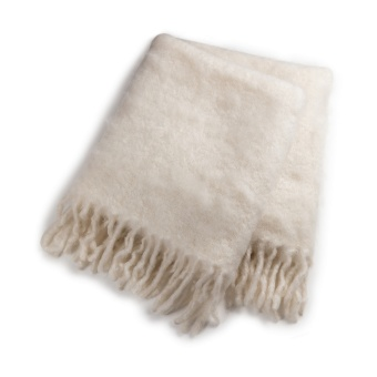 Stackelbergs Luxury Kid Mohair Pläd Pure White