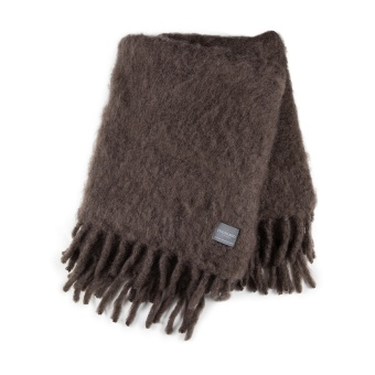 Stackelbergs Luxury Kid Mohair Pläd Chocolate