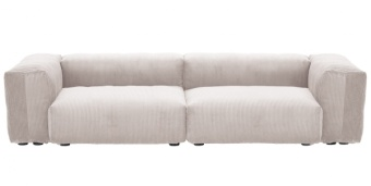 Vetsak Soffa 2 Medium Cord Velour Platinum
