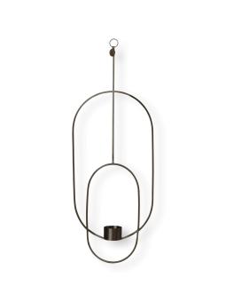Ferm Living Hängande Oval ljushållare Svart