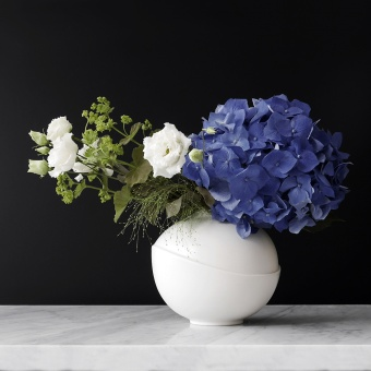 AEO Vase Big Bubble White Matte