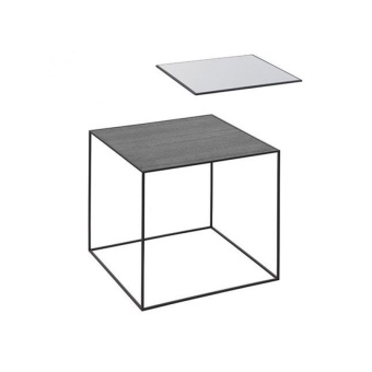 By Lassen Twin Table 42 black base