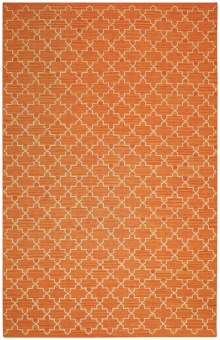 Chhatwal & Jonsson Matta New Geometric Orange Melange/Off white