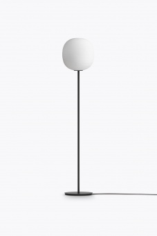 New Works Lantern Floor Lamp with Black Base