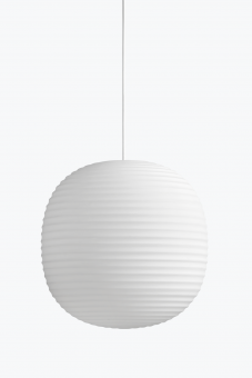 New Works Lantern Pendant Frosted White Opal Glass Ø40