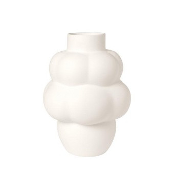 Louise Roe Balloon Vase 04 Ceramic Raw White