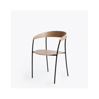 New Works Missing Chair Lackerad ek/Svart ram