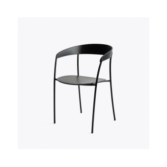 New Works Missing Chair Svart lackerad ek/Svart ram