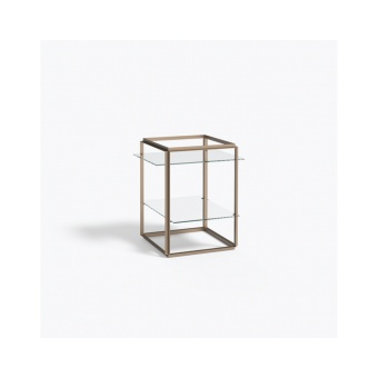 New Works Side Table Florence Raw Gold
