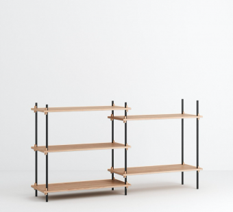 Moebe Shelving System Set 05 Low Double