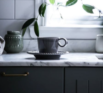 Pottery Jo Daria Kopp med Fat Soft Grey