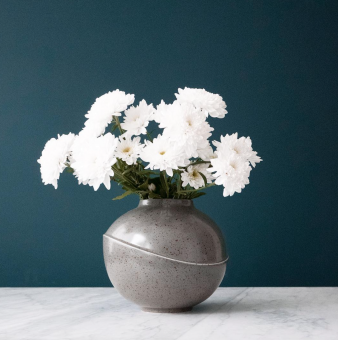 AEO Vase Big Bubble Grey Spotted