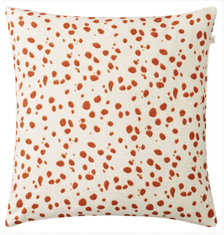 Chhatwal & Jonsson Kudde Tiger Dot Jaffa Orange Linen