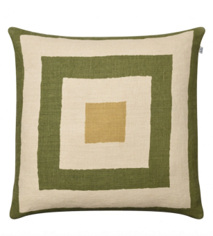 Chhatwal & Jonsson Kudde Shillong Linne Cactus Green/Light Beige/Spicy Yellow