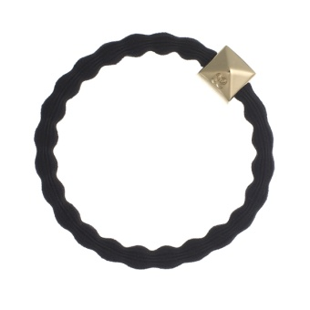 ByEloise London hårsnodd Gold Stud Black