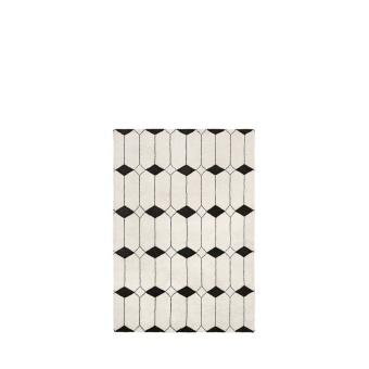 Louise Roe Matta The Jewel Rug Ecru/Black 140x200cm