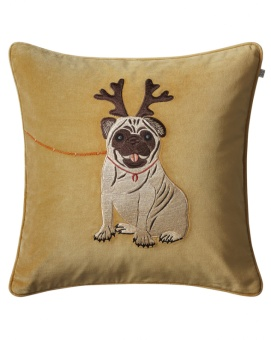 Chhatwal & Jonsson Kuddfodral Sammet Holiday Dog Masala Yellow